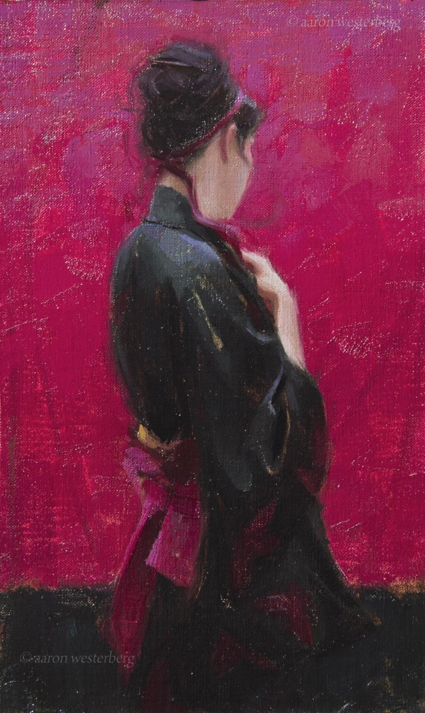 contemplation13x8oil on panel